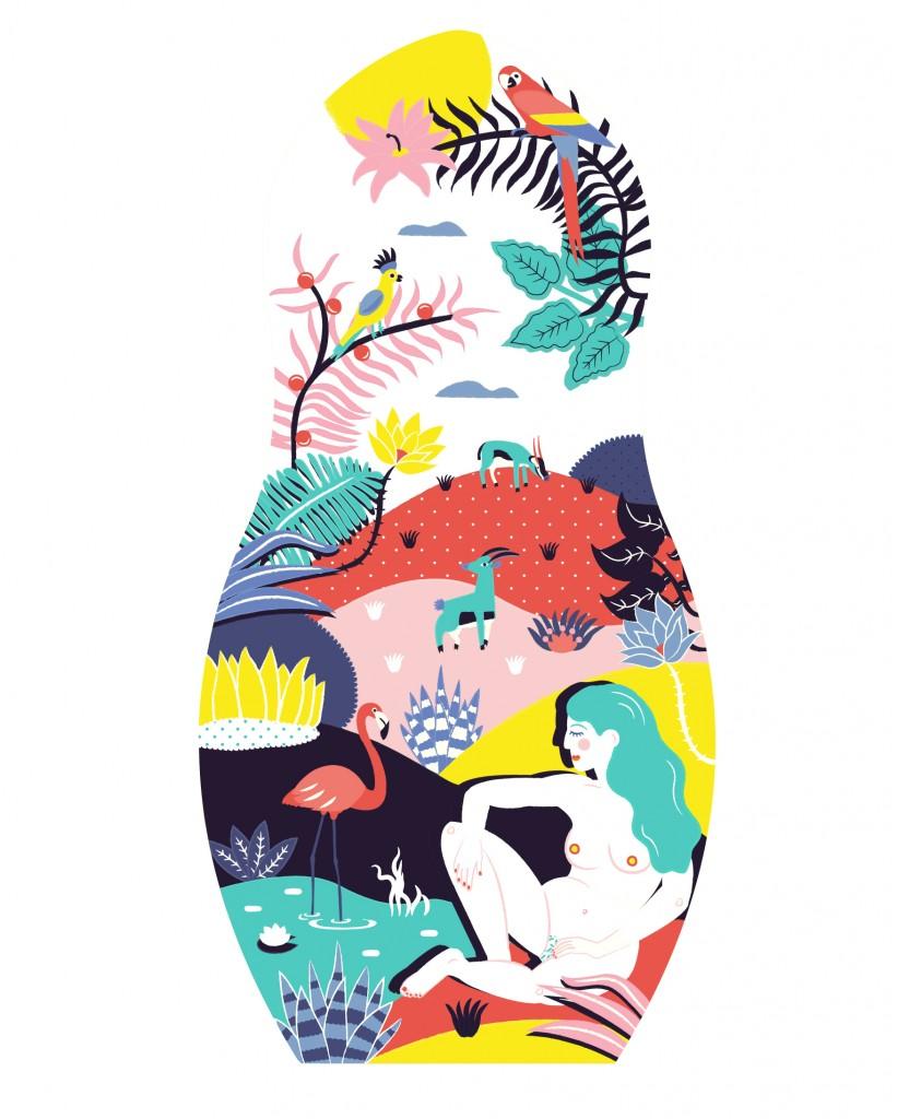 Poupée-Russe Illustration Mathilde Valero
