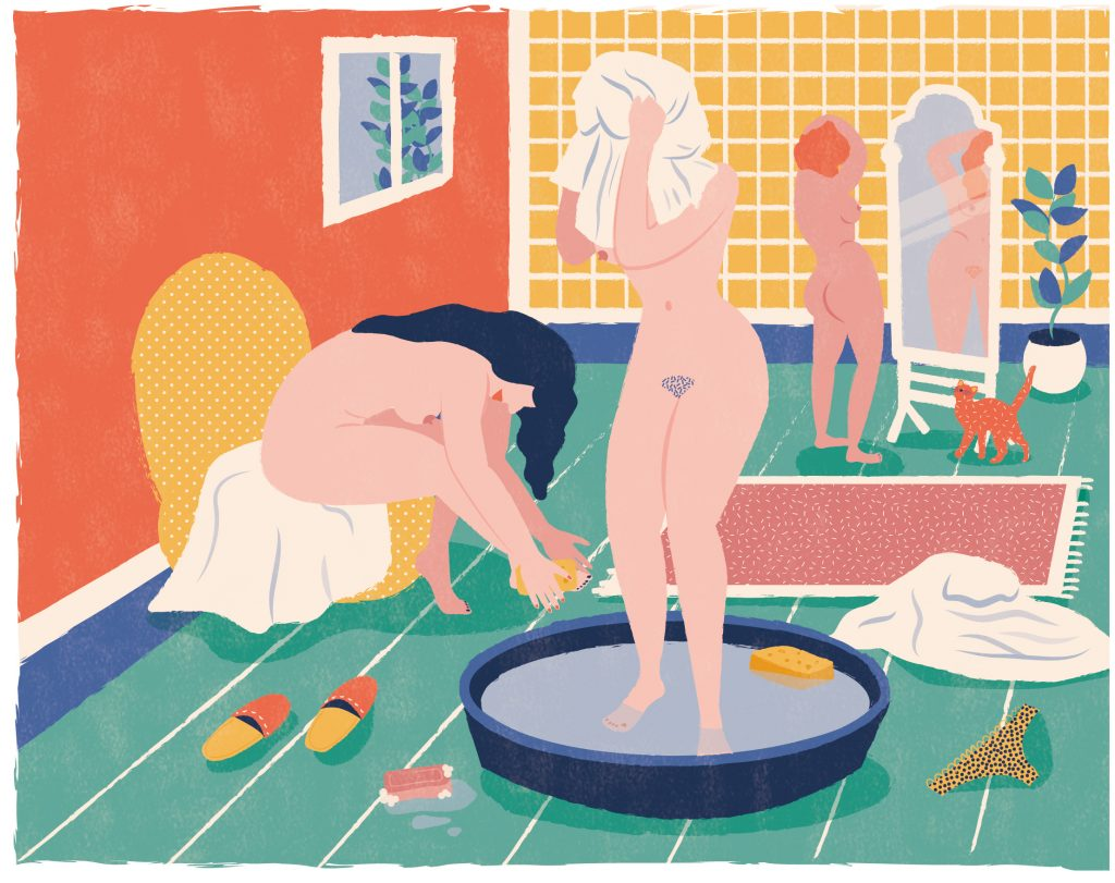 to have a wash - Mathilde Valero - Illustration